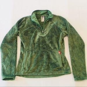 North Face Furry Fleece Quarter Zip Pullover